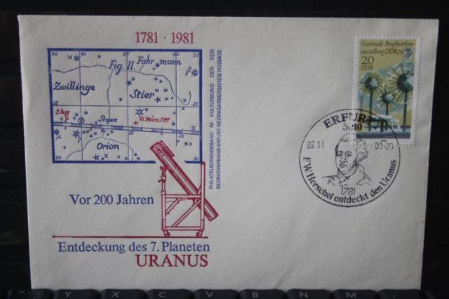 DDR, Erfurt; F.W.Herschel; Entdecker des Planeten Uranus, 1981