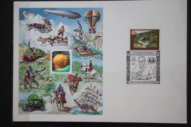 Österreich, 30 Jahre SOS-Kinderdörfer 1991, Hologrammkarte
