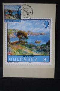 Guernsey, Set von 5 amtl. Maximumkarten Auguste Renoir, 1983
