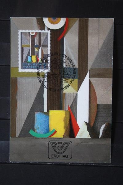 Österreich 3. Amtliche Maximumkarte der Post:Fenster von Karl Korab, 1984