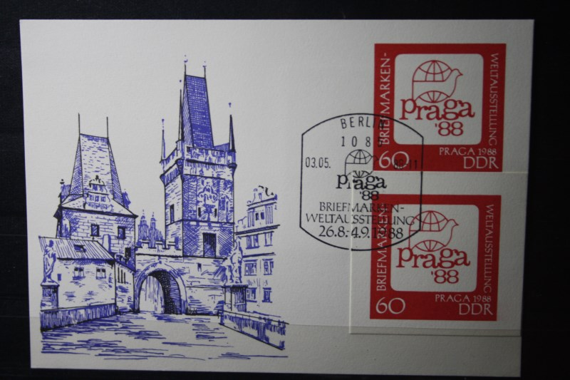 DDR Ganzsache Praga 88