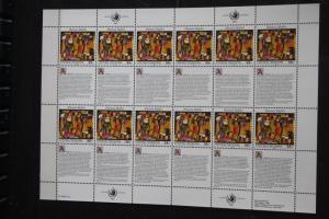 UNO New York Menschenrechte 1993 Kleinbogen; Zusammendruckbogen