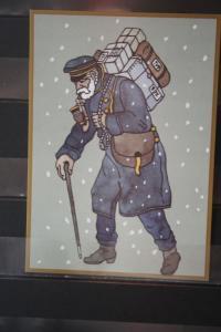 500 Jahre Post; Post-Post-Jubiläumskarte: Paketzusteller 1895