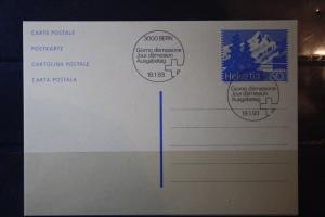 Schweiz, Ganzsache, Postkarte 1993, 60 Rappen
