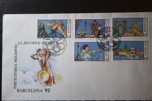 Moldawien, Sport, Olympia Barcelona 1992 FDC