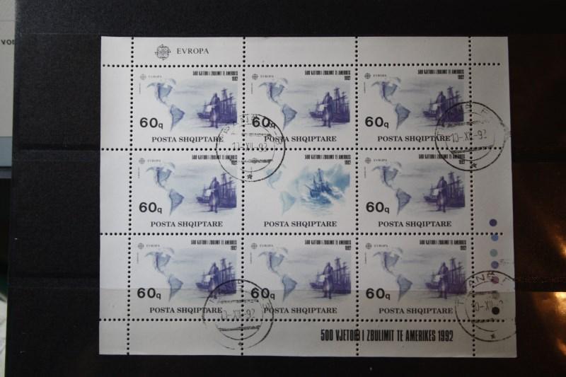 Albanien, EUROPA-UNION, CEPT 1992, Kleinbogensatz