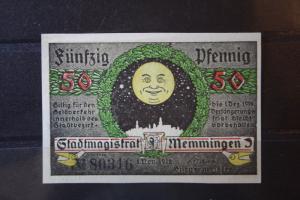 Notgeld Memmingen, 50 Pf.