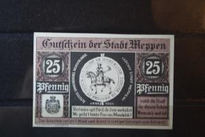 Notgeld Meppen, 25 Pf.
