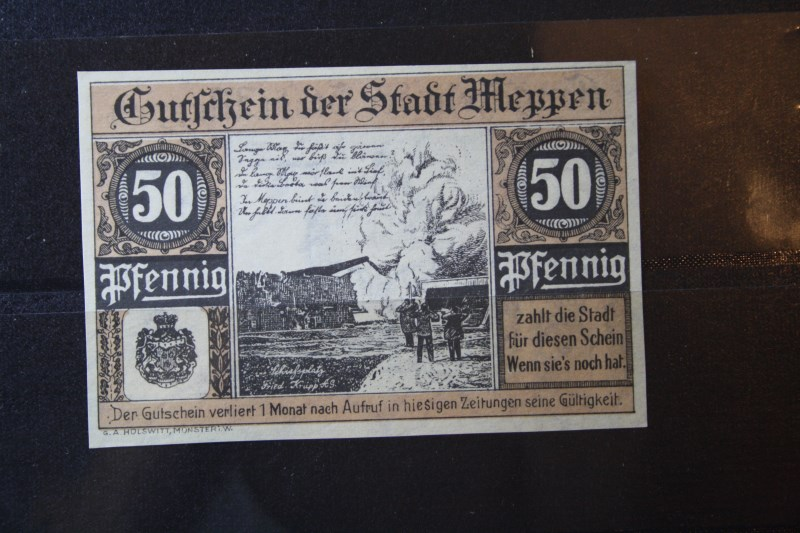Notgeld Meppen, 50 Pf.