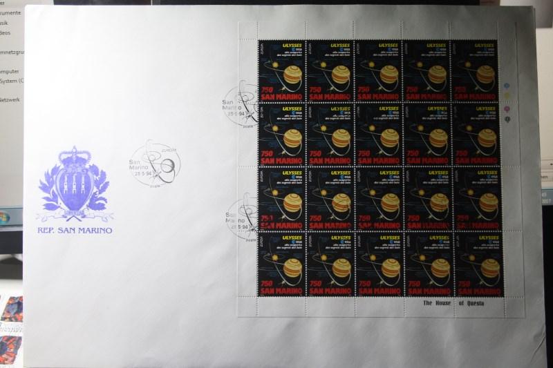 San Marino  CEPT EUROPA-UNION 1994, Kleinbogen auf 2 FDC