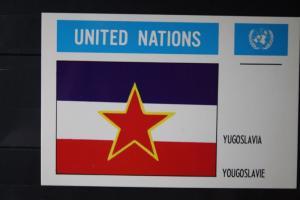 MK Maximumkarte UNO New York Flaggen Jugoslawien
