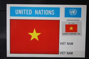 MK Maximumkarte UNO New York Flaggen Vietnam
