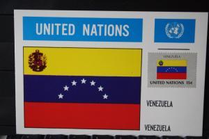 MK Maximumkarte UNO New York Flaggen Venezuela