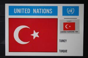 MK Maximumkarte UNO New York Flaggen Türkei
