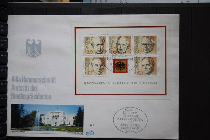 Bundespräsidenten-Block 1982 auf FDC