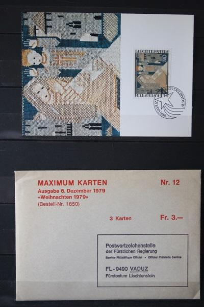 Liechtenstein Maximumkarten Weihnachten 1979