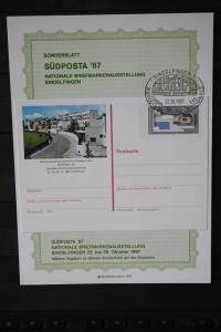 Sonderblatt zur Sonderganzsache SÜDPOSTA 87