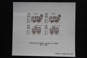 Frankreich Epreuves Tag der Briefmarke 1987 und 1988