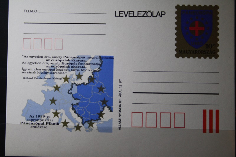 Ungarn, Paneuropa-Ganzsache, 1989