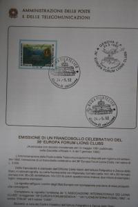 Italien Lions Club 1992; CEPT EUROPA-UNION-Symphatieausgabe; Offizielles Bulletin (früher Ministerblatt)
