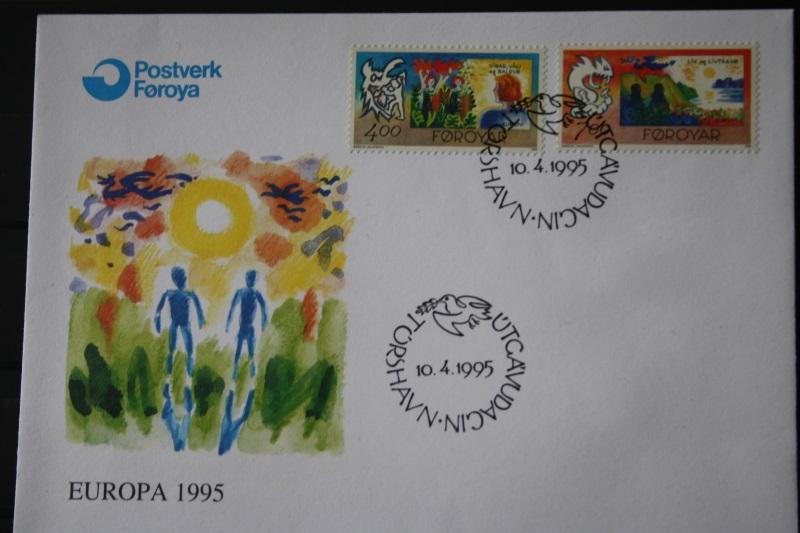 Dänemark-Färöer 1995  CEPT EUROPA-UNION FDC