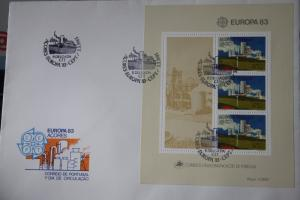 Portugal-Azoren CEPT EUROPA-UNION 1983, Block 124