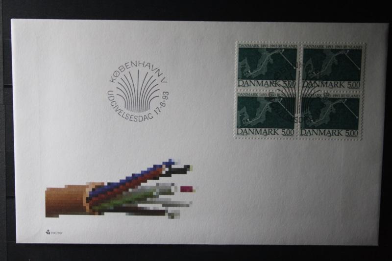 Dänemark, Dänemark-Rusland 1993 Viererblock-FDC