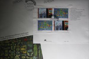Portugal CEPT EUROPA-UNION 1993 Block auf FDC