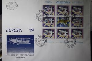 Jugoslawien CEPT EUROPA-UNION 1994, Kleinbogen auf FDC