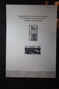 CEPT EUROPA-UNION Belgien 1983, Schwarzdruck