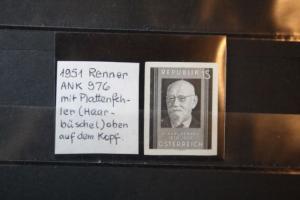 Schwarzdruckmarke der Ausgabe: Renner von 1948 mit PF