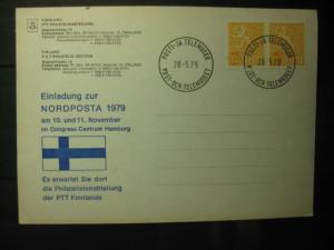 Finnland, Karte zur NORDPOSTA 1979 Hamburg