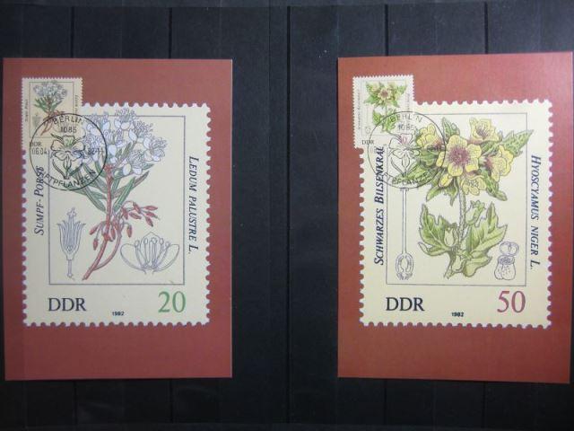 Giftpflanzen, Set von 6 amtl. MK, 1982, mit PF 1