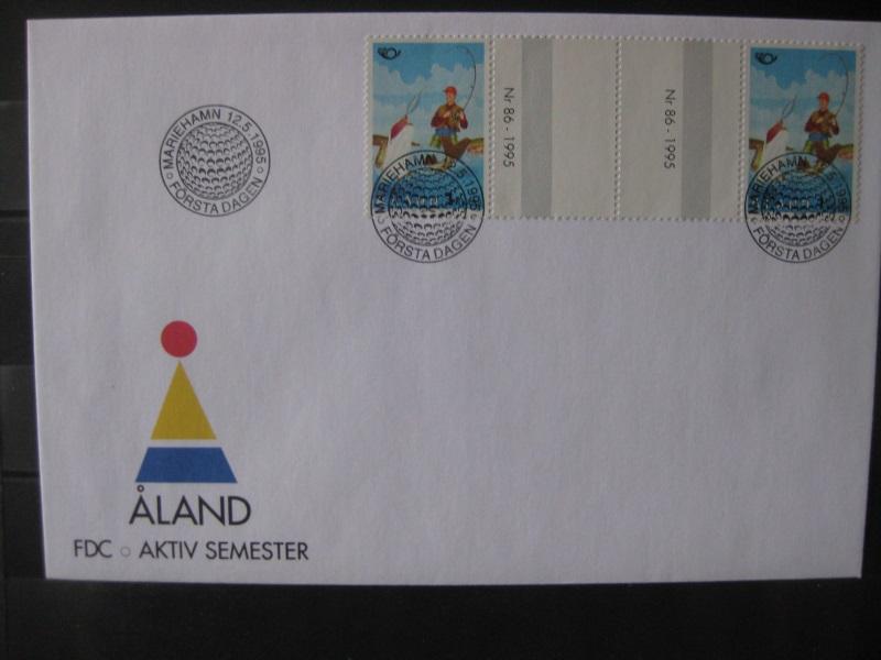 Aland, Finnland-Aland 1995, NORDEN, Zwischensteg-FDC