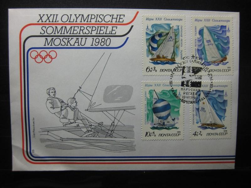 XXII. Olympische Spiele MOSKAU 1980, FDC