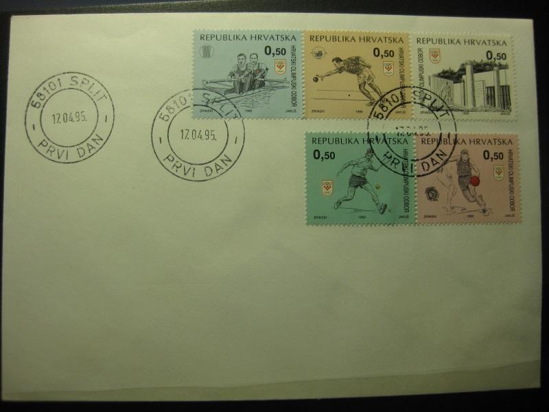 Kroatien Sport 1993, FDC