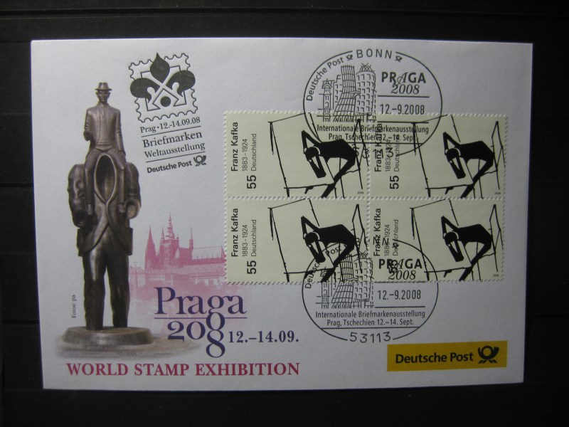 Messebrief, Ausstellungsbrief Deutsche Post: World Stamp Exhibition Praga 2008, Prag