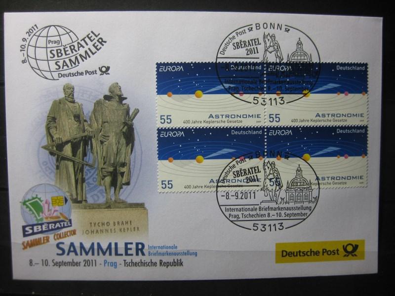 Messebrief, Ausstellungsbrief Deutsche Post: Internationale Briefmarken-Ausstellung  Sammler 2011, Prag