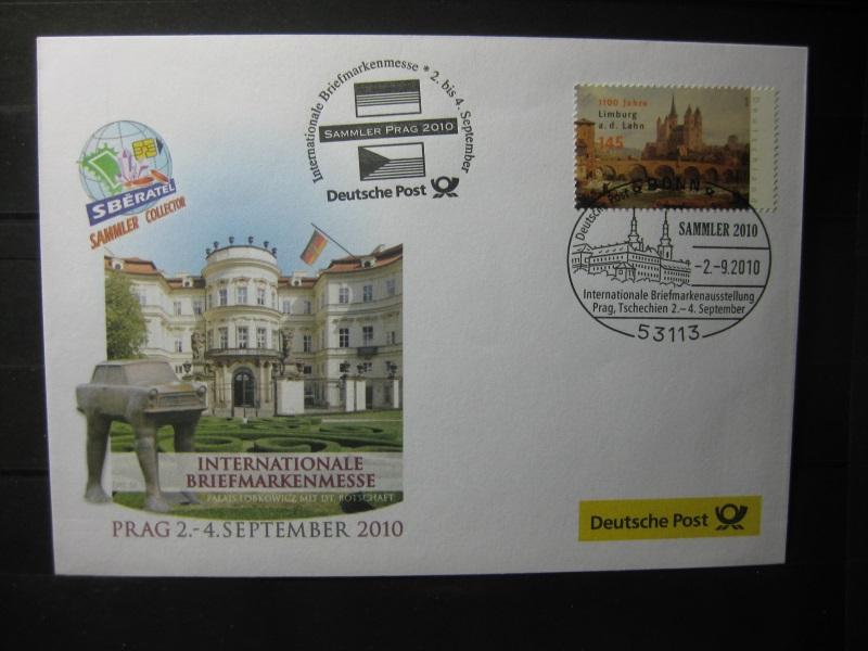 Messebrief, Ausstellungsbrief Deutsche Post: Internationale Briefmarken-Ausstellung  Sammler 2010, Prag