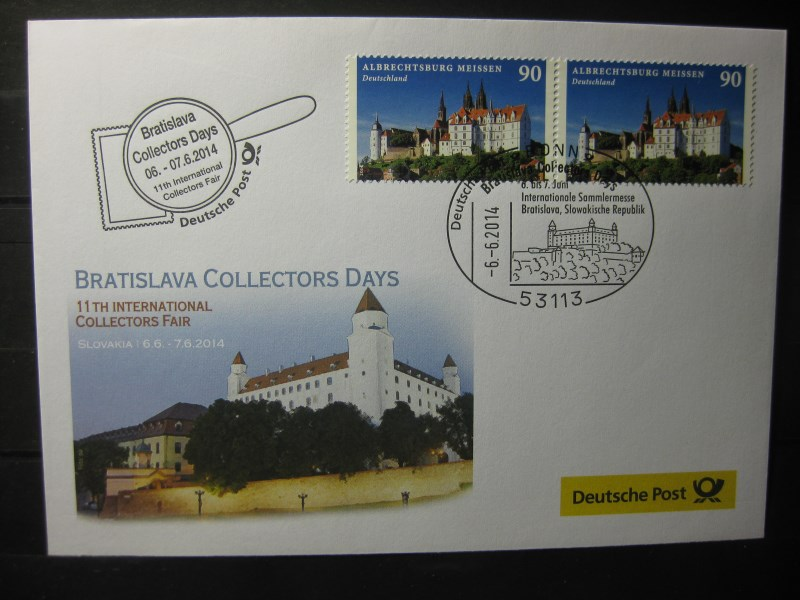 Messebrief, Ausstellungsbrief Deutsche Post: Internationale Sammlermesse Bratislava Collectors Days 2014