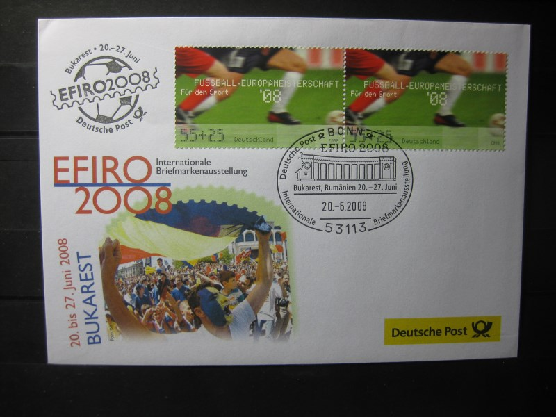 Messebrief, Ausstellungsbrief Deutsche Post: Internationale Briefmarken-Ausstellung  Efiro 2008, Bukaresr