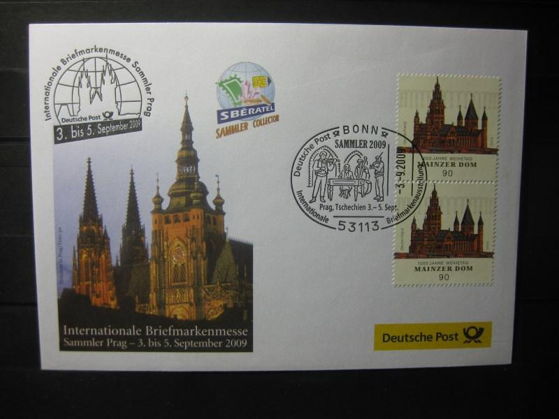 Messebrief, Ausstellungsbrief Deutsche Post: Internationale Briefmarken-Ausstellung  Sammler 2009, Prag