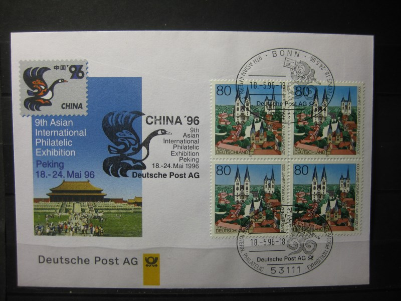Messebrief, Ausstellungsbrief Deutsche Post: International Philatelic Exhibition China 96, Peking 1996