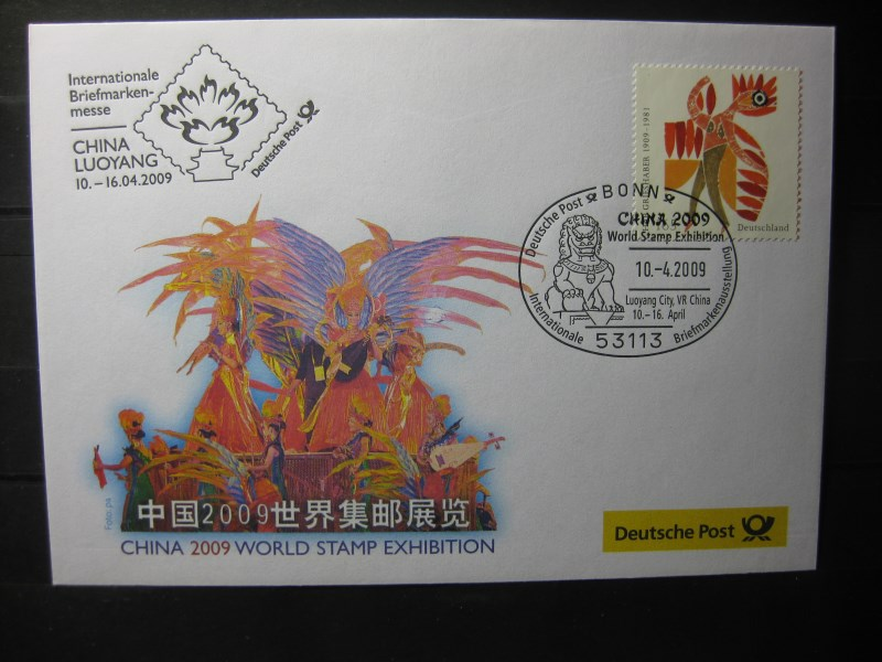 Messebrief, Ausstellungsbrief Deutsche Post: Internationale Briefmarken-Messe China 2009, World Stamp Exhibition Luoyang/China