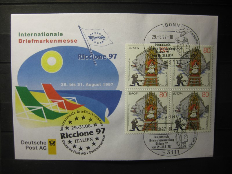 Messebrief, Ausstellungsbrief Deutsche Post: Internationale Briefmarken-Messe Riccione 97, 1997