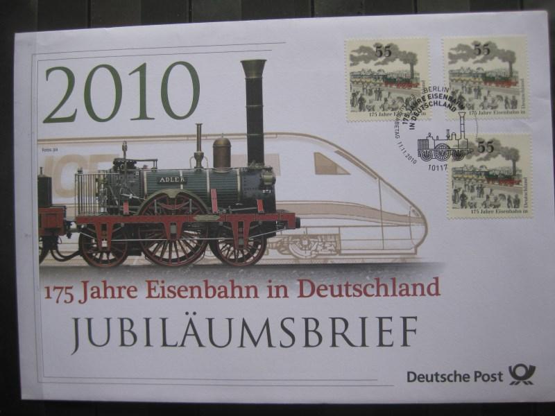 Deutschland 125 Jahre Eisenbahn Ersttags Jubiläumskarte Oldthing