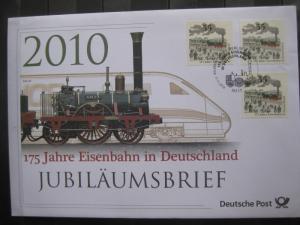 Jubiläumsbrief Deutsche Post: 175 Jahre Eisenbahn in Deutschland