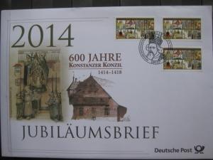 Jubiläumsbrief Deutsche Post: 600 Jahre Konstanzer Konzil