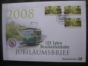 Jubiläumsbrief Deutsche Post: 125 Jahre Drachenfelsbahn