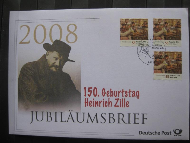 Jubiläumsbrief Deutsche Post: 150. Geburtstag Heinrich Zille, 2008